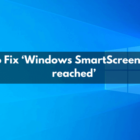 Windows SmartScreen can't be reached