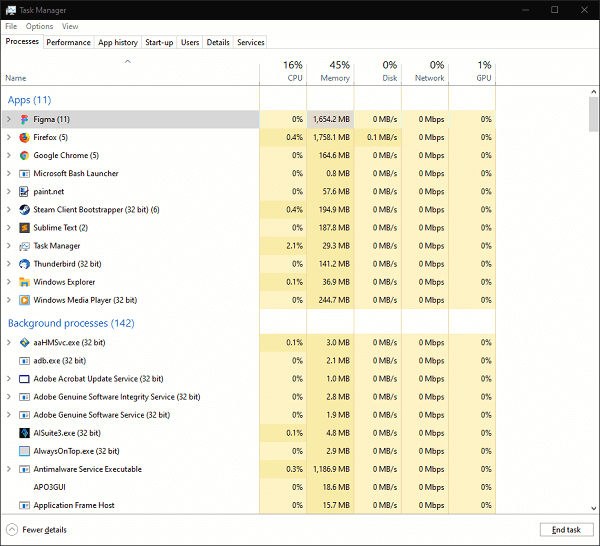 Background running programs